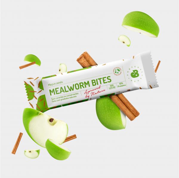 mealworm bites - maça e canela